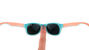 Shades- Indestructible in Teal & Coral