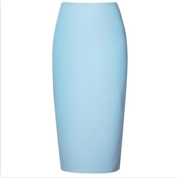 Chiffon Pencil Skirts Midi