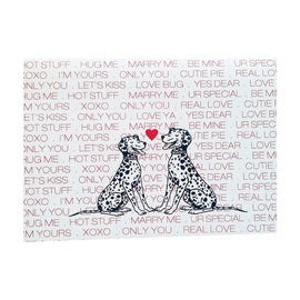 Puppy Love Valentine's Card - single card