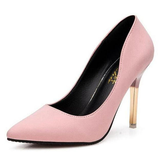Pointed toe high-heeled shoes