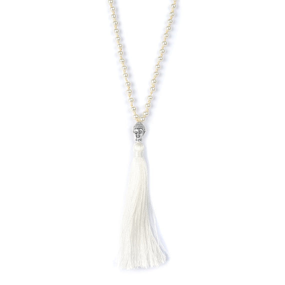 Tassel Necklace Bohemian Simulated Pearl