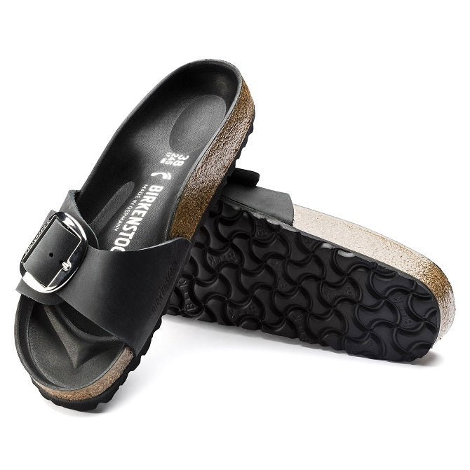 1006523 Madrid Big Buckle Oiled Leather Black