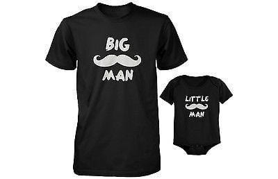 Dad and Baby Matching T-Shirt and Bodysuit Set - Big Man and Little Man