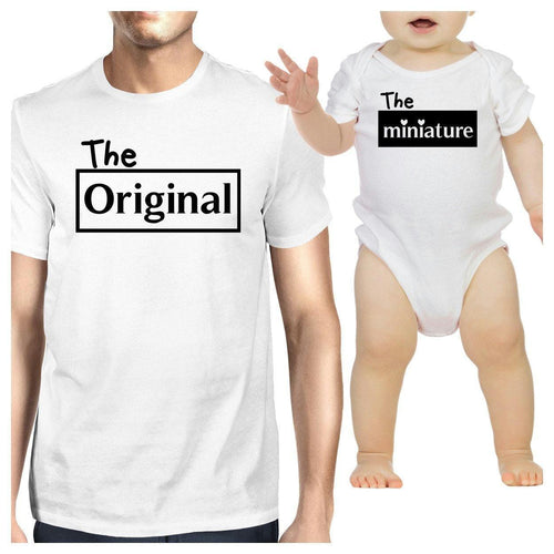 Original And Mini Cute Dad Baby Boy Shirts Funny Fathers Day Gifts