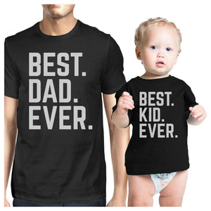 Best Dad And Kid Ever Dad Baby Couple T Shirts Gift For Baby Shower