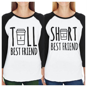 Tall Short Cup BFF Gift Matching Baseball Jerseys For Womens Raglan