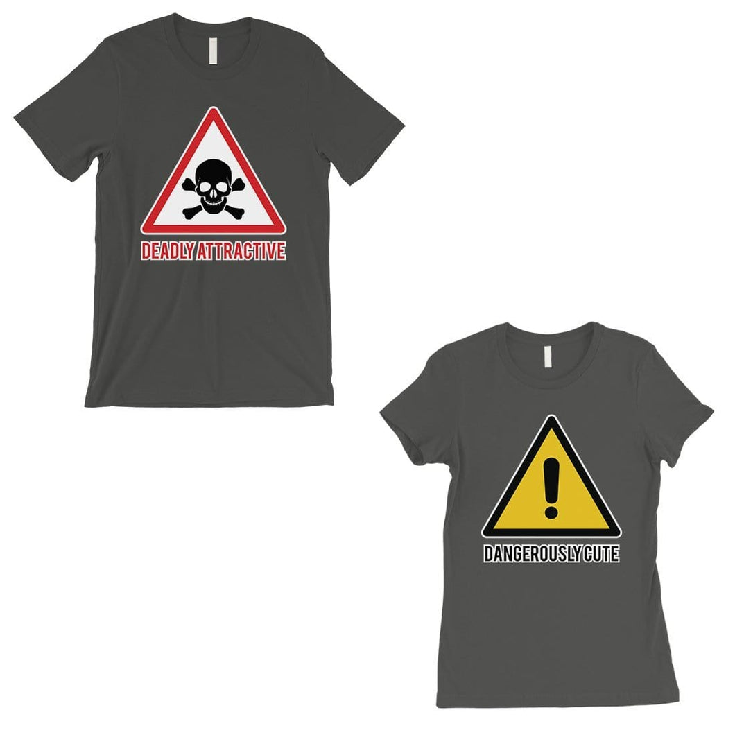 Attractive & Cute Matching T-Shirts Dark Grey Funny Newlywed Gifts
