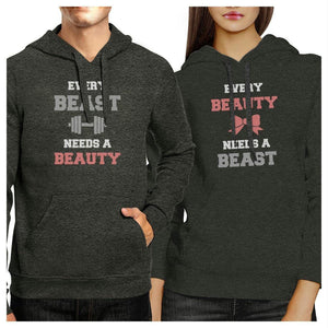 Every Beast Beauty Matching Hoodies Pullover Crewneck Graphic Top