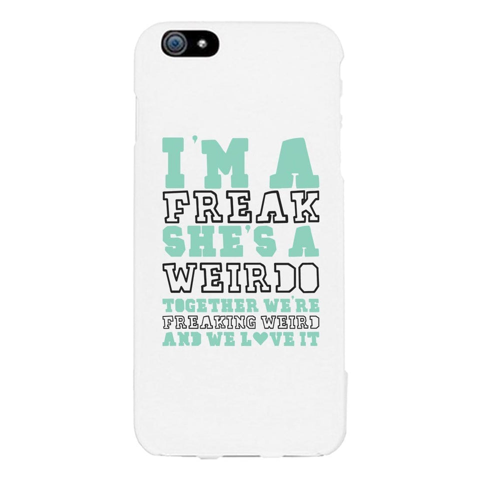 Freak and Weirdo BFF Matching White Phone Cases Best Friend