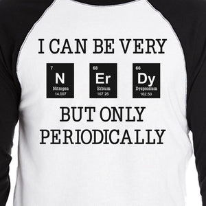 Nerdy Periodically Mens Black And White Baseball Shirt