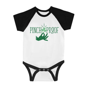 Pinch Proof Clover Infant Baseball Shirt For St Patrick's Day Tee