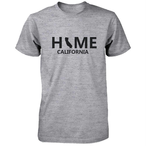 Home CA State Grey Men's T-Shirt US California Hometown Tee