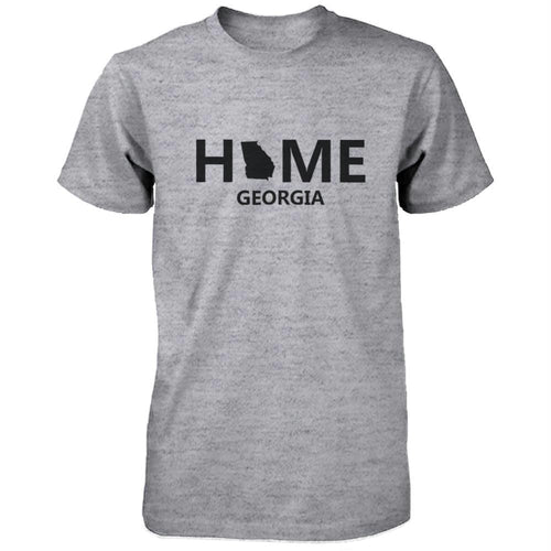 Home GA State Grey Men's T-Shirt US Georgia Hometown Cotton Tee