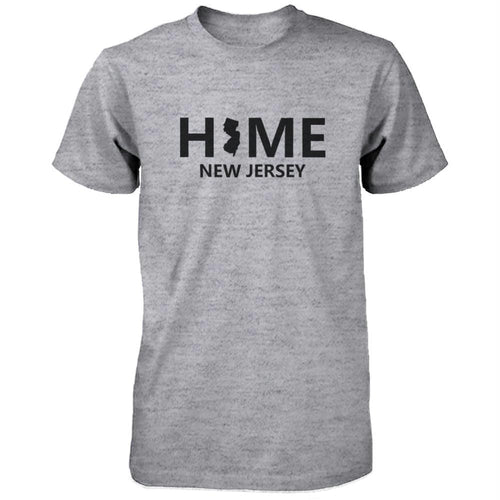 Home NJ State Grey Men's T-Shirt US New Jersey Hometown Shirt
