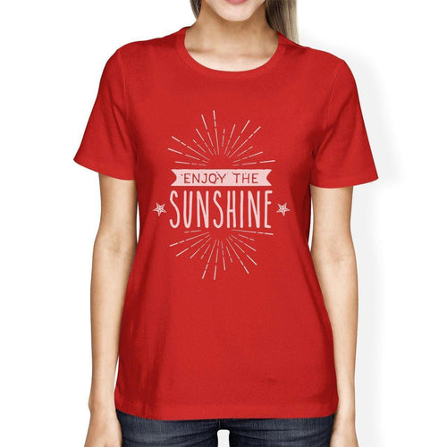 Enjoy The Sunshine Womens Red Shirt