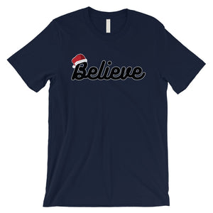 Believe Santa Hat Mens T-Shirt