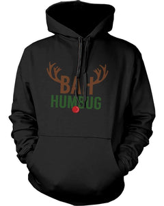 Bah Humbug Rudolph Christmas Hoodies X-mas Pullover Fleece Hooded Sweaters