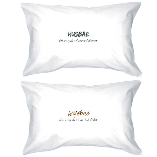 Husbae Wifebae Leopard Military Matching Gift Couple Pillow Cases