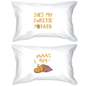 Sweet Potato Yam Cute Matching Pillow Covers For Newlywed Gifts