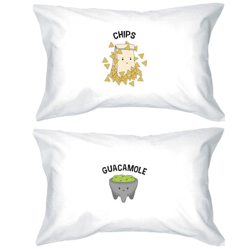 Chips & Guacamole Cute Matching Pillow Cases Funny Wedding Gifts