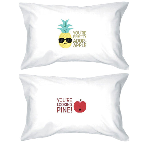 Pineapple Apple Matching Pillow Covers Cute Anniversary Gifts