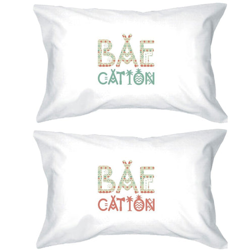 BAEcation Vacation Matching Pillow Cases Unique Wedding Gift Ideas