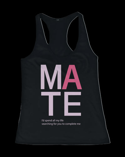 SOUL MATE Couple Tank Tops Cute His and Her Matching Tanks for Couples