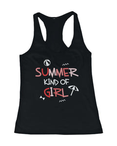 Summer Kind Of Girl And Guy Funny Design Matching Couple Tank Tops