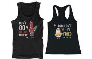 Bacon and Egg Summer Edition Couple Tank Tops Cute Matching Tanks