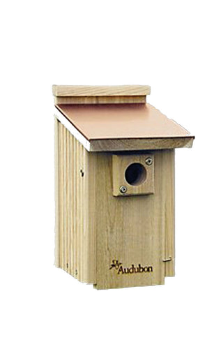 Audubon/woodlink - Cedar Wood Bluebird House With Copper Roof
