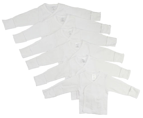 Preemie Long Sleeve Side Snap With Mitten  6 Packcuff