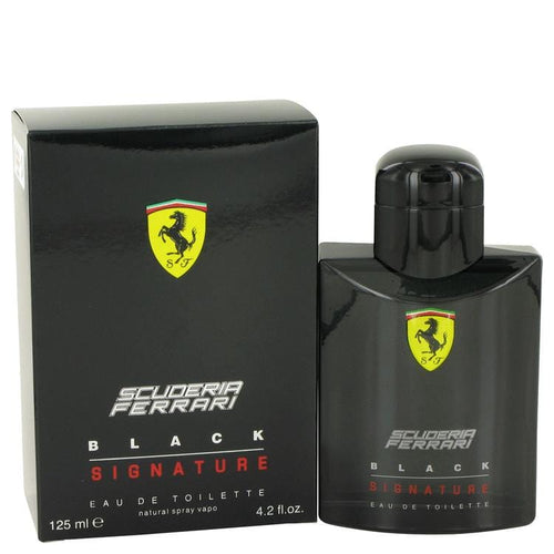 Ferrari Scuderia Black Signature by Ferrari Eau De Toilette Spray 4.2 oz for Men