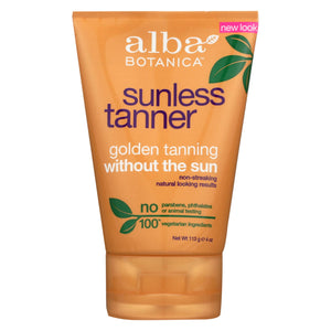 Alba Botanica - Very Emollient Sunless Golden Tanning Natural Formula - 4 Oz