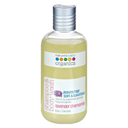 Nature's Baby Organics Shampoo And Body Wash Lavender Chamomile - 8 Fl Oz