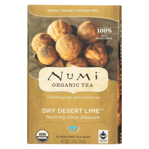 Numi Tea Dry Desert Lime - Lime Herbal Teasan - Case Of 6 - 18 Bag