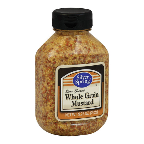 Silver Spring Mustard - Whole Grain - Case Of 9 - 9.25 Oz