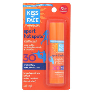 Kiss My Face Sun Care Hotspots Spf 30 - 0.5 Fl Oz - Case Of 6