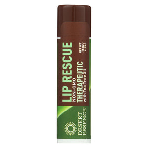 Desert Essence - Lip Rescue Therapeutic With Tea Tree Oil - 0.15 Oz - Case Of 24