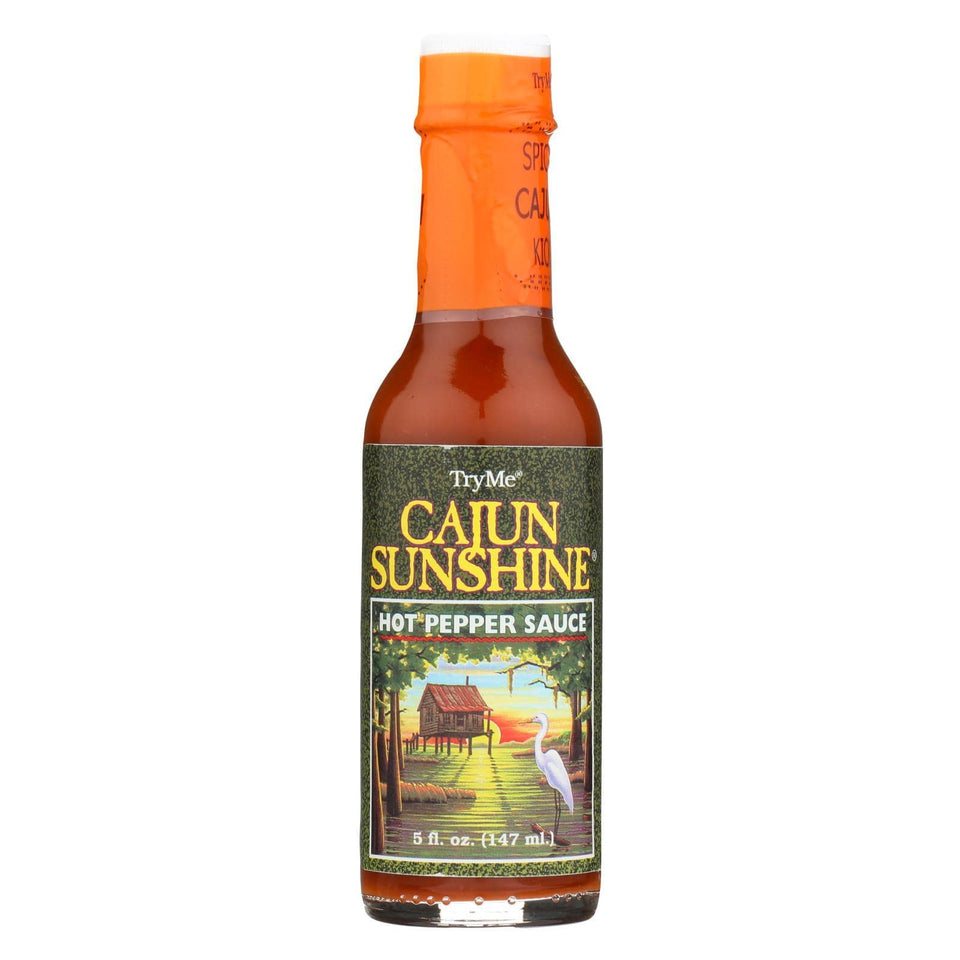 Try Me Cajun Sunshine - Hot Pepper Sauce - Case Of 6 - 5 Oz.
