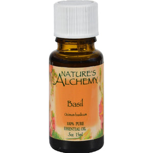 Nature's Alchemy 100% Pure Essential Oil Basil - 0.5 Fl Oz