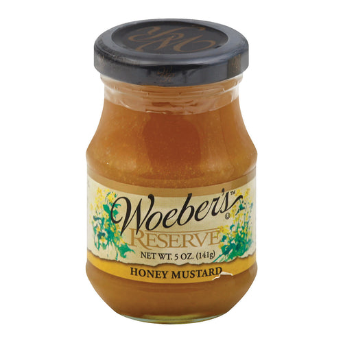 Woeber's Reserve Mustard Honey - Case Of 6 - 5 Oz.