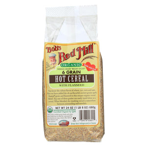 Bob's Red Mill - Organic 6 Grain Hot Cereal With Flaxseed - 24 Oz - Case Of 4