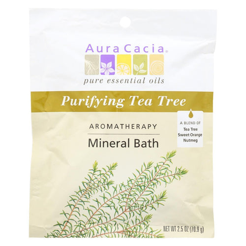 Aura Cacia - Aromatherapy Mineral Bath Tea Tree Harvest - 2.5 Oz - Case Of 6