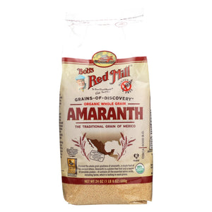 Bob's Red Mill - Organic Whole Grain Amaranth - 24 Oz - Case Of 4