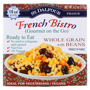 St Dalfour Gourmet On The Go - Ready To Eat - Whole Grain With Beans - 6.2 Oz - Case Of 6