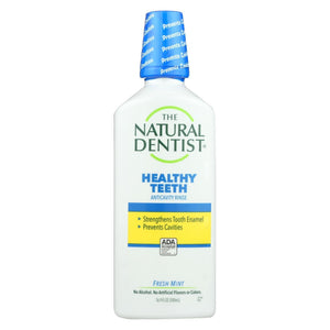 Natural Dentist Healthy Teeth And Gums Anticavity Fluoride Rinse - Fresh Mint - 16.9 Oz