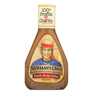 Newman's Own Family Recipe Dressing - Italian - Case Of 6 - 16 Fl Oz.