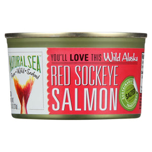 Natural Sea Wild Sockeye Salmon - Salted - 7.5 Oz.