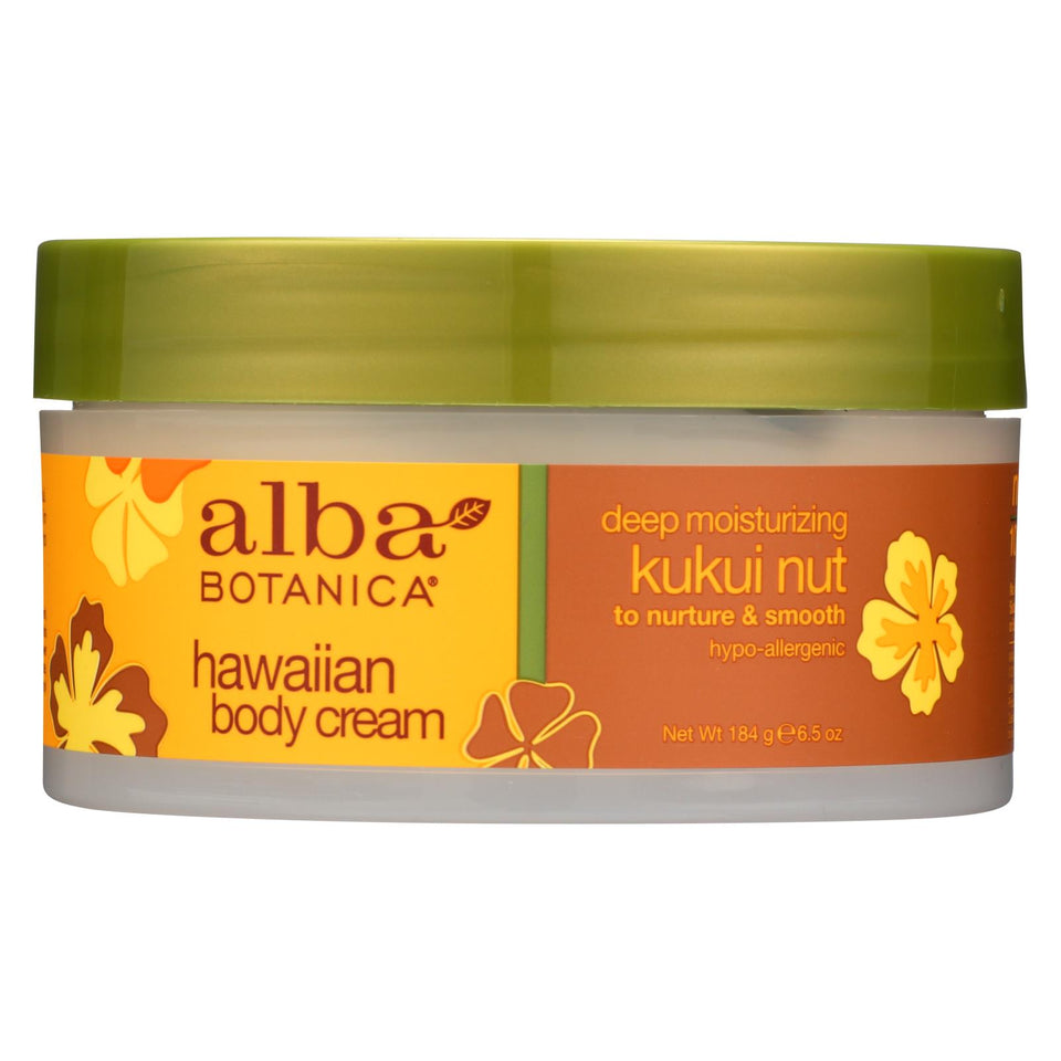 Alba Botanica - Hawaiian Body Cream Kukui Nut - 6.5 Oz