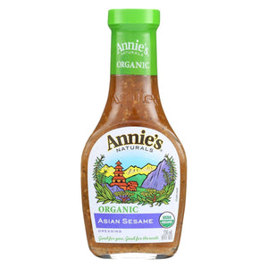 Annie's Naturals Organic Dressing Asian Sesame - Case Of 6 - 8 Fl Oz.
